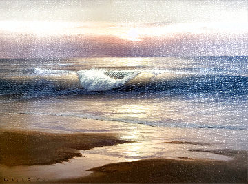 Sunset Beach 2007 24x27 Original Painting - Walfrido Garcia