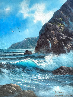 Daylight Seascape 2007 24x20 Original Painting - Walfrido Garcia