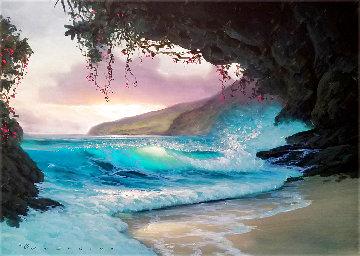 Moment of Everlasting Peace 1996 24x30 Original Painting - Walfrido Garcia