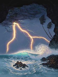Natures Fury AP Embellished Limited Edition Print by Walfrido Garcia