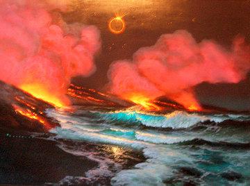 Island Rapture 1995 30x40 Original Painting - Walfrido Garcia