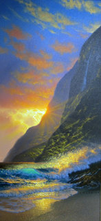 Island Gold 2004 48x27 Original Painting - Walfrido Garcia