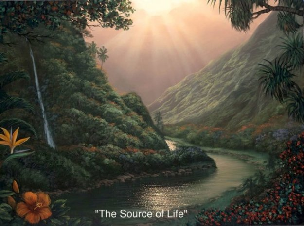 Source of Life AP Embellished Limited Edition Print by Walfrido Garcia