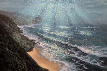 Light From Heaven 2001 36x26 Original Painting by Walfrido Garcia