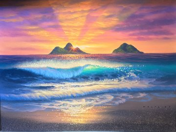 East Side Sunrise 18x24 Original Painting - Walfrido Garcia