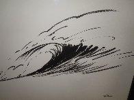 Wave Form Chinese Brush Painting 2008 14x24 Original Painting by Walfrido Garcia - 2