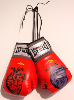 Boxing Gloves (Heart) 2013 Original Painting by Nick  Walker