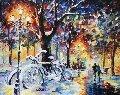 Let It Snow ll 2012 42x36 Original Painting - Daniel Wall