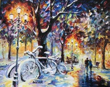 Let It Snow ll 2012 42x36 Original Painting - Daniel Wall