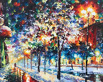 Cold City Night 2013 42x36 Original Painting - Daniel Wall