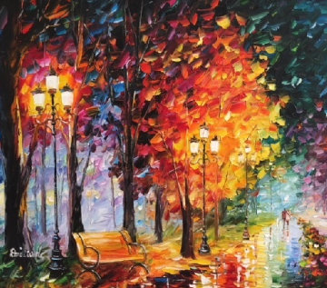 Autumn Leaves 2015 32x35 Original Painting - Daniel Wall