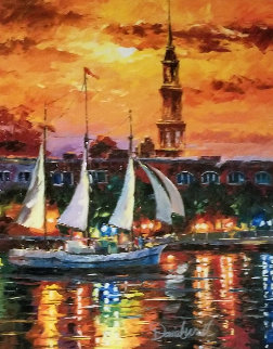 Charleston Waterfront Embellished 2017 Limited Edition Print - Daniel Wall