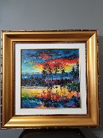 Lake Afternoon   2017 Embellished Limited Edition Print by Daniel Wall - 1