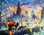 Snowy New York 2014  Embellished   Limited Edition Print - Daniel Wall