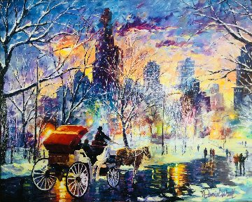 Snowy New York 2014  Embellished   Limited Edition Print - Daniel Wall