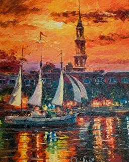 Charleston Waterfront 2017 Embellished Limited Edition Print - Daniel Wall