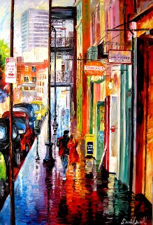Love in New Orleans 2007 25x37 Original Painting by Daniel Wall