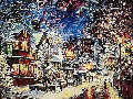 A Cold Winter Evening 2014 24x30 Original Painting - Daniel Wall