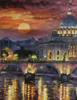 Glorious Roma Sky 2016 Embellished Limited Edition Print - Daniel Wall
