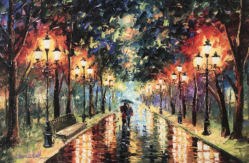 Colorful Street Embellished  Limited Edition Print by Daniel Wall