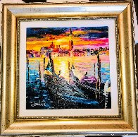 Stillness of Venice 2017 Embellished Limited Edition Print by Daniel Wall - 1