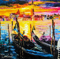 Stillness of Venice 2017 Embellished Limited Edition Print by Daniel Wall - 0