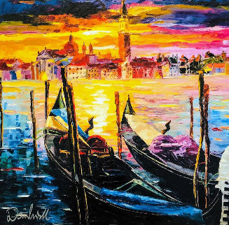 Stillness of Venice 2017 Embellished Limited Edition Print - Daniel Wall