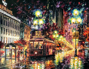 New Orleans Cable Car 2016 Embellished Limited Edition Print - Daniel Wall