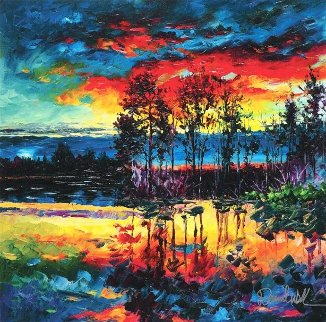 Lake Afternoon 2017 Embellished Limited Edition Print - Daniel Wall