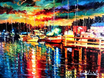 Glitter Harbor 2014 Embellished Limited Edition Print - Daniel Wall