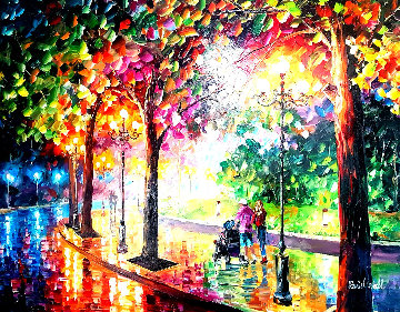 Roadside Walk  Original Painting - Daniel Wall