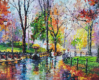 Autumn Rainy Afternoon  2014  Embellished  Limited Edition Print by Daniel Wall - 0