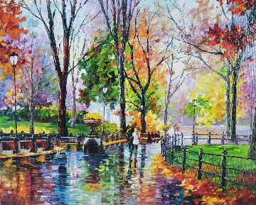 Autumn Rainy Afternoon  2014  Embellished  Limited Edition Print - Daniel Wall