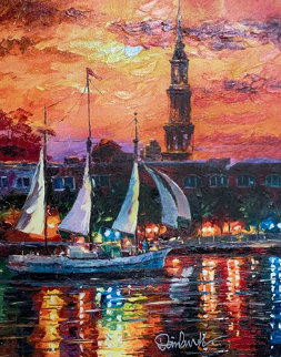 Charleston Waterfront 2017 Embellished Limited Edition Print by Daniel Wall