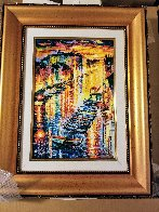 Night Impression of Grand Canal 2017 Embellished Limited Edition Print by Daniel Wall - 1