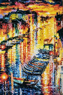 Night Impression of Grand Canal 2017 Embellished Limited Edition Print by Daniel Wall - 0