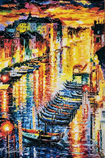 Night Impression of Grand Canal 2017 Embellished Limited Edition Print - Daniel Wall