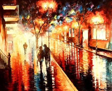 Spring Night 40x34 Original Painting - Daniel Wall
