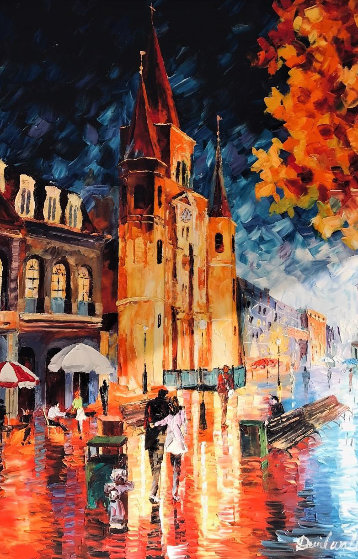 French Quarter New Orleans 39x27 Original Painting by Daniel Wall