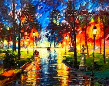 Central Park At Twilight 2017 Limited Edition Print - Daniel Wall