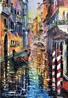 A Corner of Venice 2016 Embellished Limited Edition Print - Daniel Wall