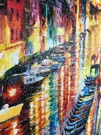 Night Impression of Grand Canal 2017 Embellished Limited Edition Print by Daniel Wall - 2