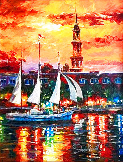 Charleston Waterfront Limited Edition Print - Daniel Wall