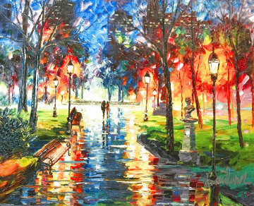 Central Park At Twilight 2017 Embellished Limited Edition Print - Daniel Wall