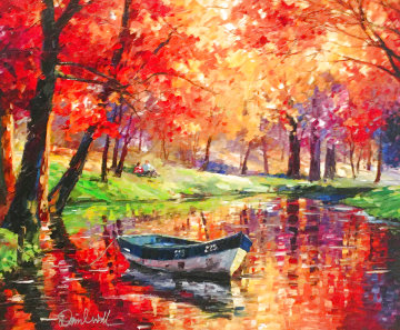 Colorful Quiet Fall 2016 Embellished Limited Edition Print - Daniel Wall