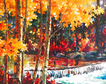 Aspen Creek 30x42  Original Painting - Daniel Wall
