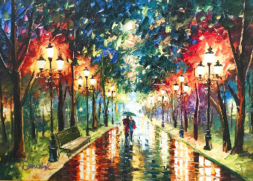 Colorful Street Embellished Limited Edition Print - Daniel Wall