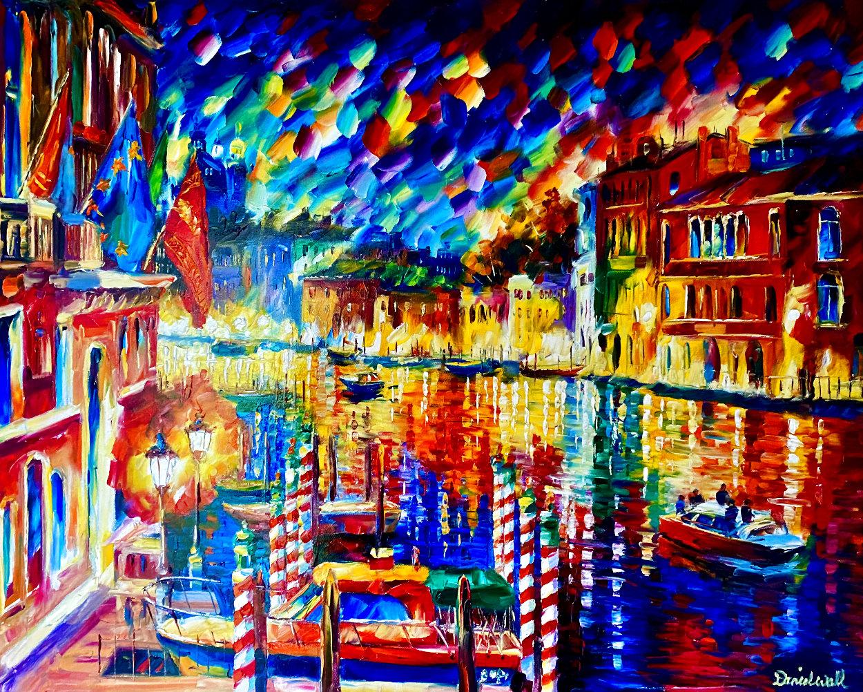 Beautiful Grand Canal 2010 35x41 Super Huge Original Painting by Daniel Wall