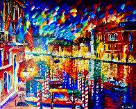 Beautiful Grand Canal 2010 35x41 Super Huge Original Painting by Daniel Wall - 0