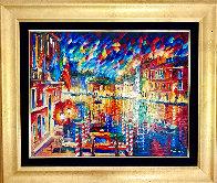 Beautiful Grand Canal 2010 35x41 Super Huge Original Painting by Daniel Wall - 1